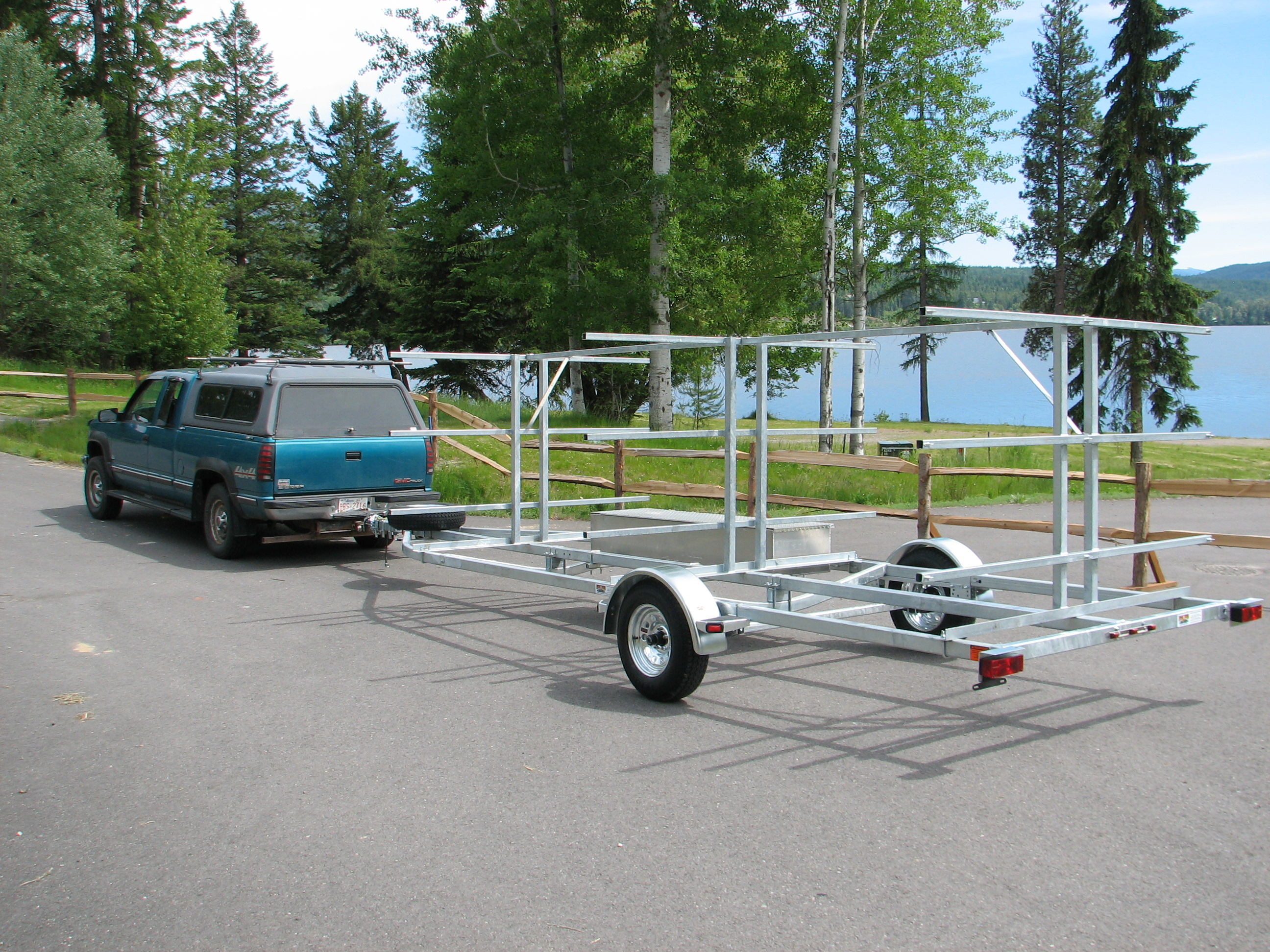 Transport, Storage & Launching: 12-24 Canoes, Kayaks,Outrigger, Big Canoes, Gear Storage, Bikes by North Woods Sport Trailers - Image 4025