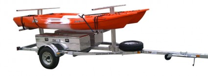 Transport, Storage & Launching: 4-8 Place Canoe, Kayak, Raft, SUP, Bike, Gear by North Woods Sport Trailers - Image 4029