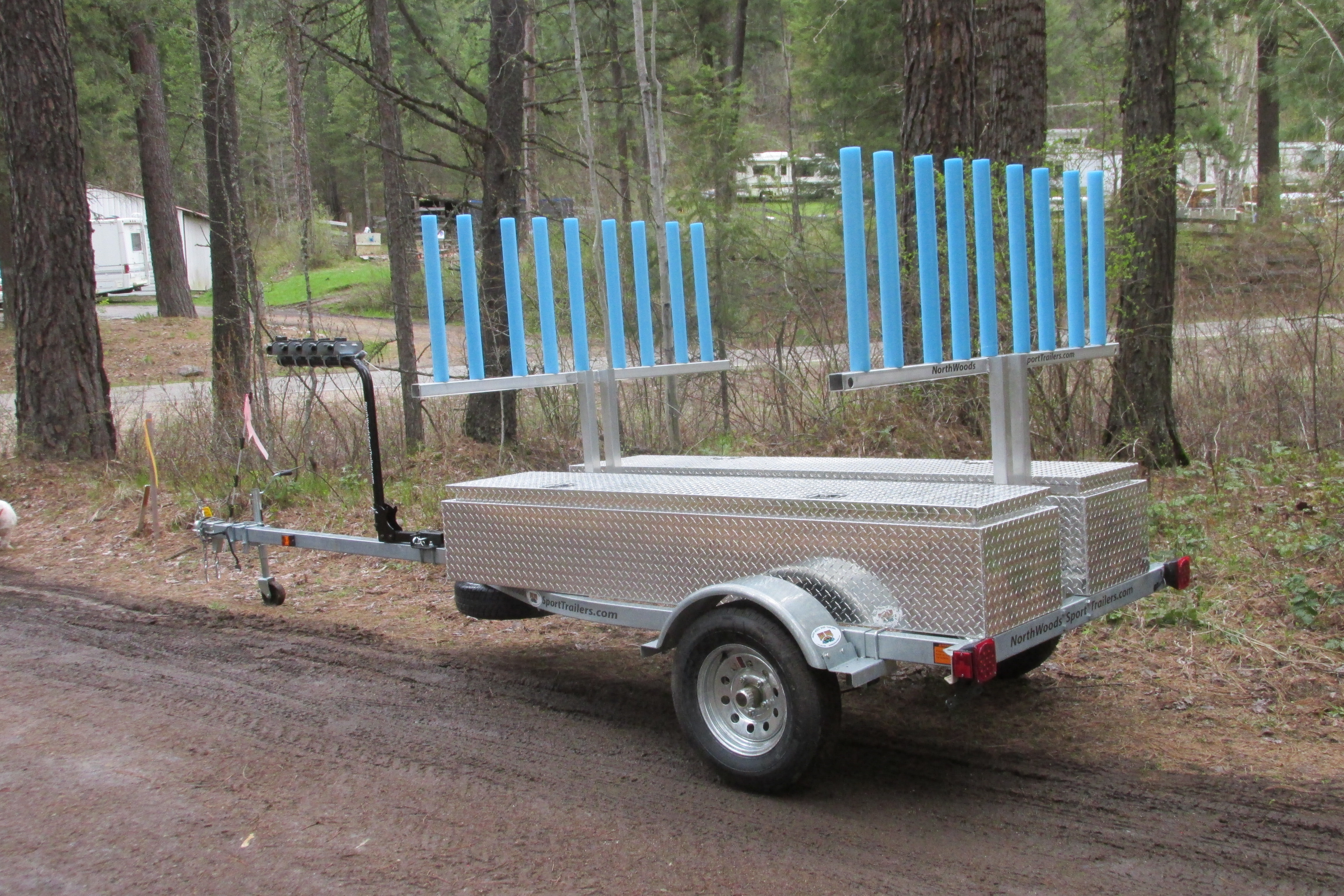 Transport, Storage & Launching: Multi Trailer Kayak, Canoe, SUP, Sailboat, Bikes, Storage by North Woods Sport Trailers - Image 4027
