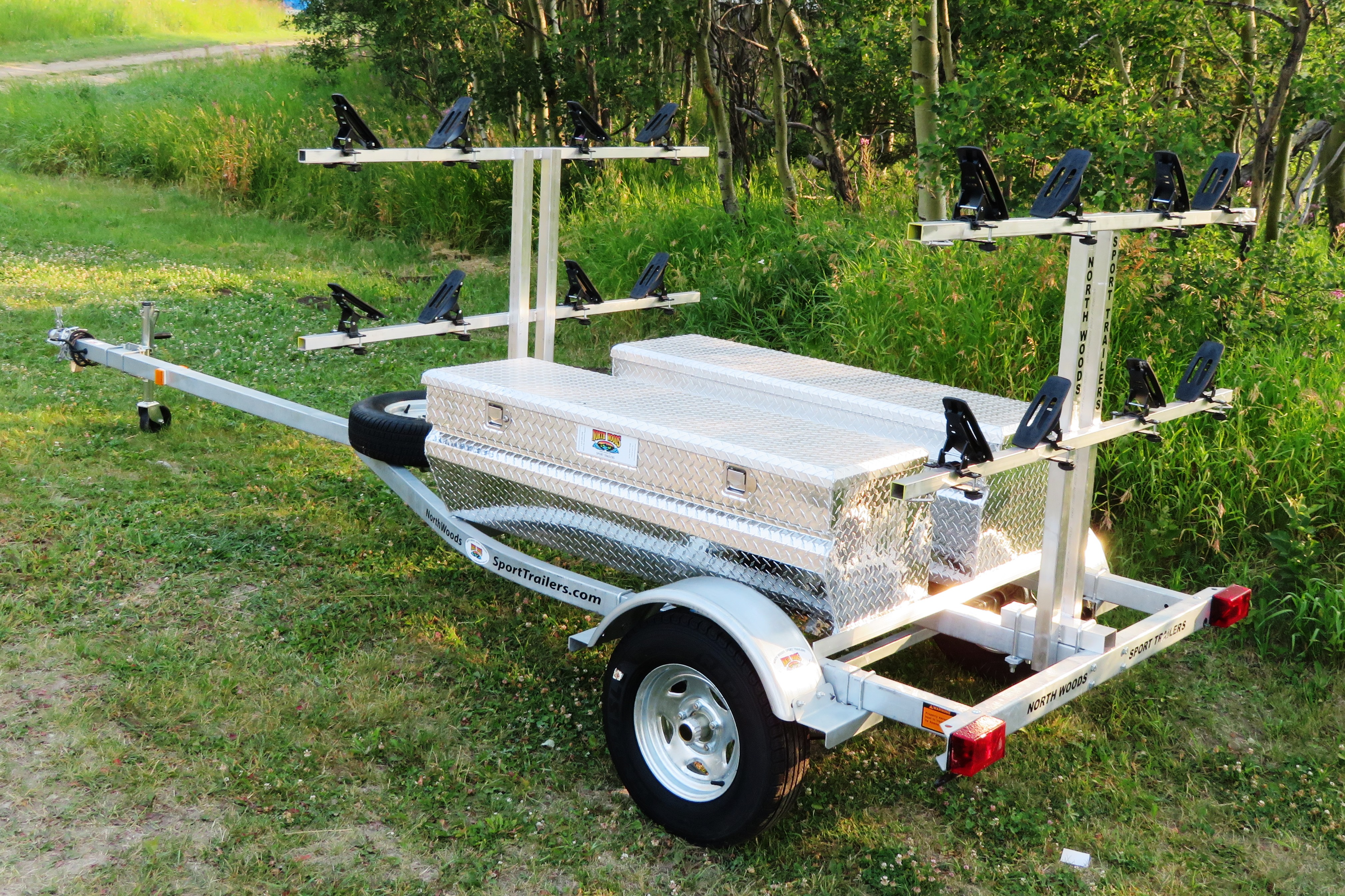 Transport, Storage & Launching: Kayak/Canoe/SUP Trailer, Bikes. Gear by North Woods Sport Trailers - Image 2745